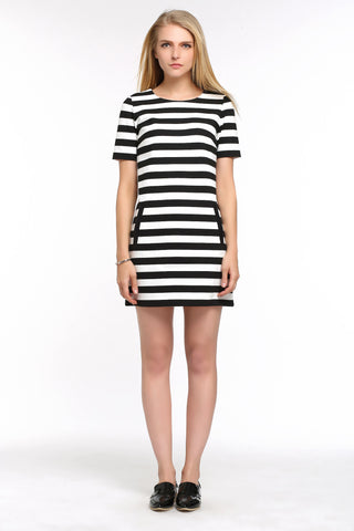 Wide Stripe A-line Dress 1502102