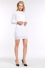Stripe Dress with Sheer Detailing 1506305 WHITE