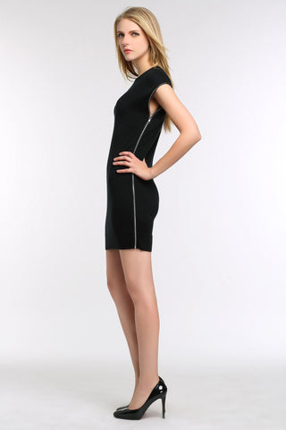 Exposed Side Zip Dress 1507304