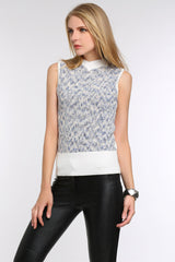 Marble Sleeveless Knit Top 1506303