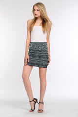 Marble Bodycon Mini Skirt 1508303 BLACK
