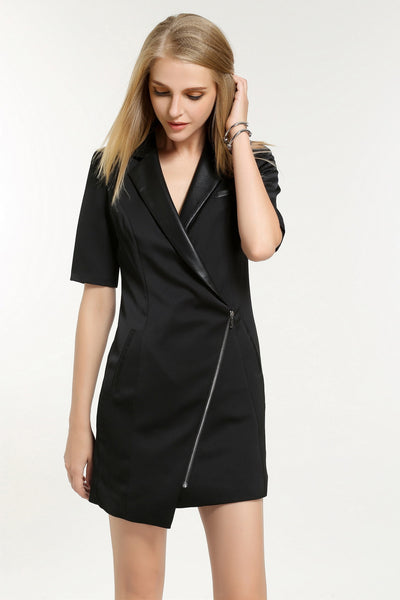 ASSYMETRICAL ZIP JACKET DRESS 1606218