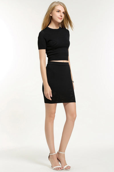LORRAINE TWO PIECES  DRESS TOP 1606306 BLACK