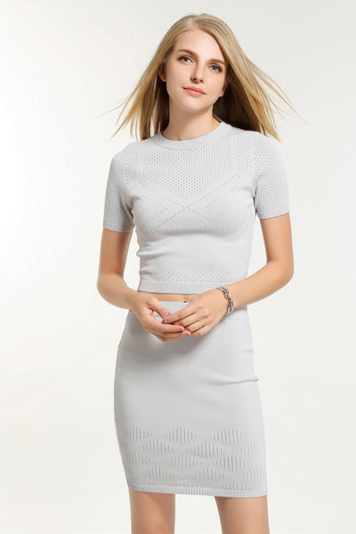 LORRAINE TWO PIECES  DRESS TOP 1606306 GREY