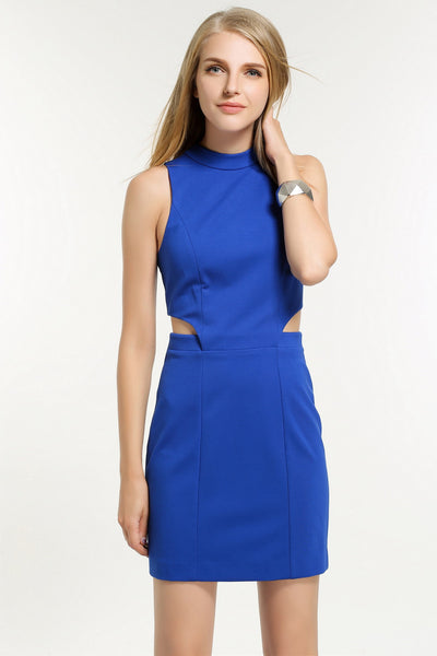CUTOUT BODICE DRESS 1606116 ROYAL BLUE