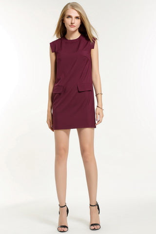 CHLOE DRESS 1603201 RED WINE