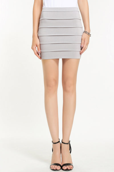 JENNER KNIT SKIRT 1606305 GREY