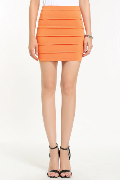 JENNER KNIT SKIRT 1606305 ORANGE