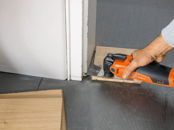 FEIN Oscillating Multi Tool Cutting Door Jamb