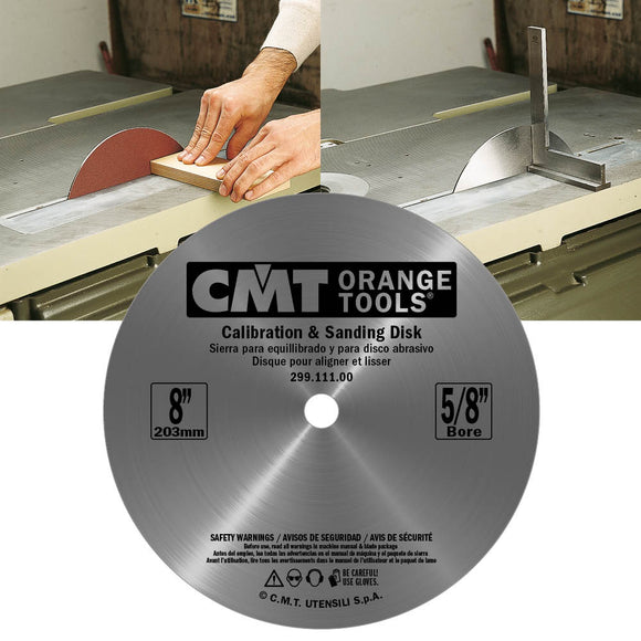 CMT 299.111.00 Balance Blade & Sanding Disk, 8-Inch Diameter, 5/8-Inch Bore