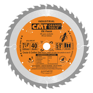 CMT 251.040.07 ITK Industrial Finish Saw Blade, 7-1/4-Inch