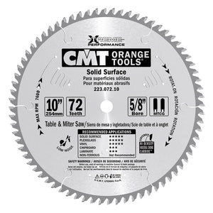 CMT 223.072.10 Industrial Solid Surface Saw Blade, 10-Inch