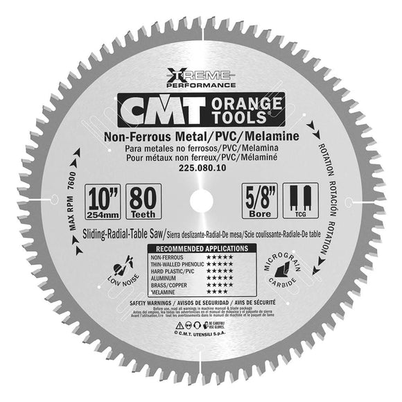 CMT 225.096.12 Industrial Non-Ferrous Metal, PVC & Melamine Saw Blade, 12-Inch