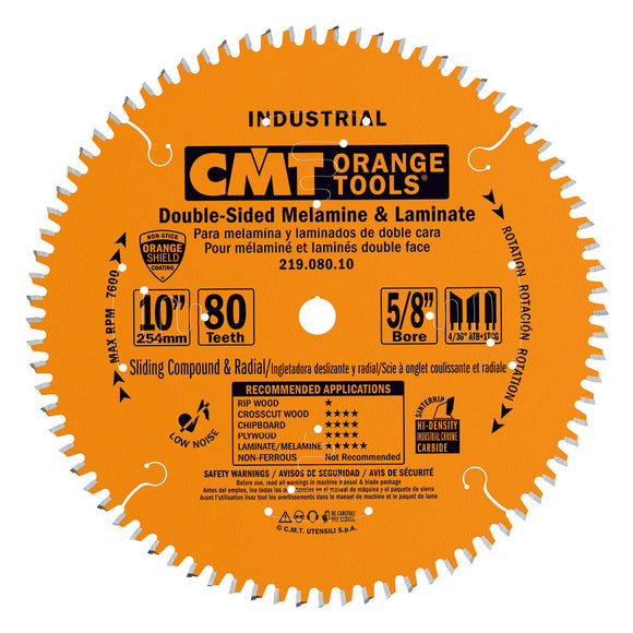 CMT 219.080.10 Industrial Sliding Compound Miter & Radial Saw Blade, 10-Inch