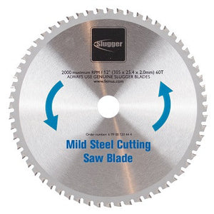 "12"" Slugger by FEIN Metal Saw Blades- 60T Mild Steel"