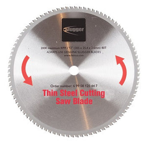 "12"" Slugger by FEIN Metal Saw Blades- 80T Thin Steel"