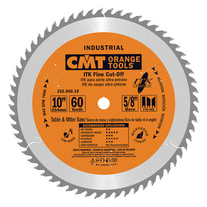 CMT 252.060.10 ITK Industrial Fine Cut-Off Saw Blade, 10-Inch