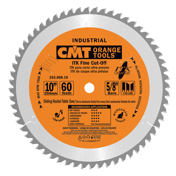 CMT 253.072.12 ITK Industrial Finish Sliding Compound Miter Saw Blade, 12-Inch