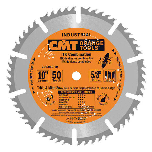 CMT 256.050.10 ITK Industrial Combination Saw Blade, 10-Inch