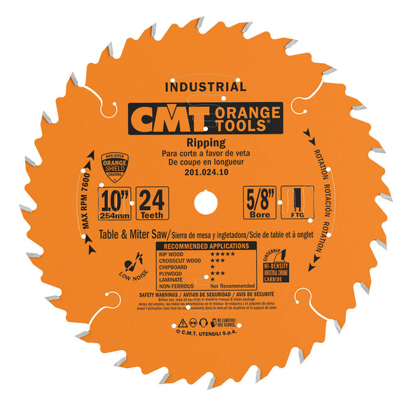 CMT 201.024.10 Industrial Ripping Saw Blade, 10-Inch