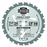 CMT K02406 ITK Contractor Framing/Decking Saw Blade, 6-1/2