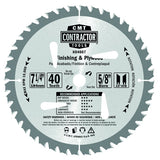 CMT K04008 ITK Contractor Finishing Saw Blade, 8-8-1/4