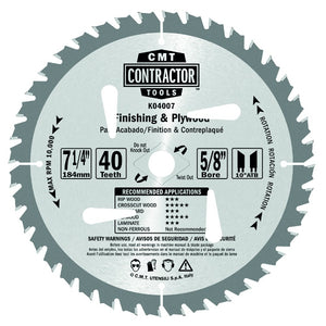 CMT K03606 ITK Contractor Finishing Saw Blade, 6-1/2
