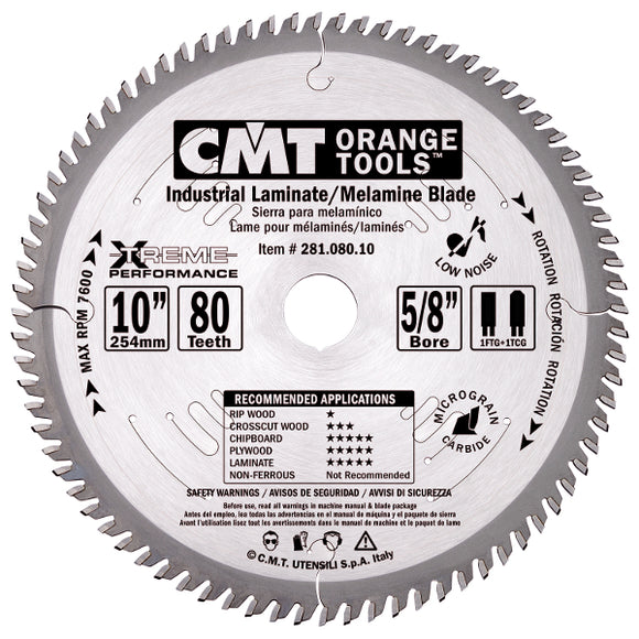 CMT 281.096.12 Industrial Long-Life Saw Blade for Laminates, 12-Inch