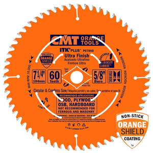 CMT P07060 ITK Plus Ultra Finish Saw Blade, 7-1/4