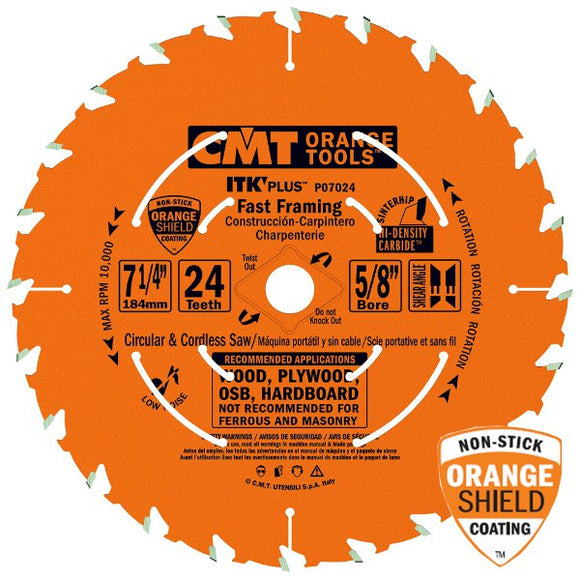 CMT P06018 ITK PLUS Saw Blade for Fast Framing Masterpack, 6-1/2