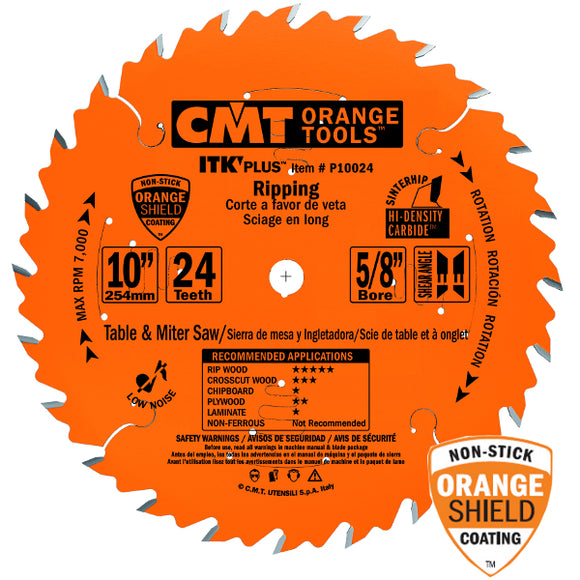 CMT P10024 ITK Plus Ripping Saw Blade, 10