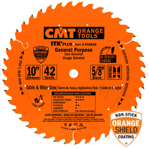 CMT P10042 ITK Plus General Purpose Saw Blade, 10