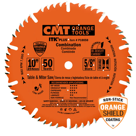 CMT P10050 ITK Plus Combination Saw Blade, 10