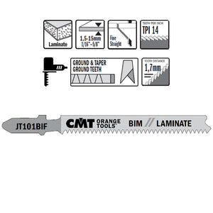 CMT JT101BIF-5 Jig Saw Blades for Laminates – 5-Pack