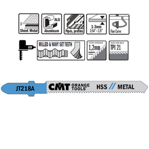 CMT JT218A-5 Jig Saw Blades for Metal – 5-Pack