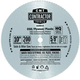 CMT K20010 ITK Contractor Plywood Saw Blade, 10-Inch