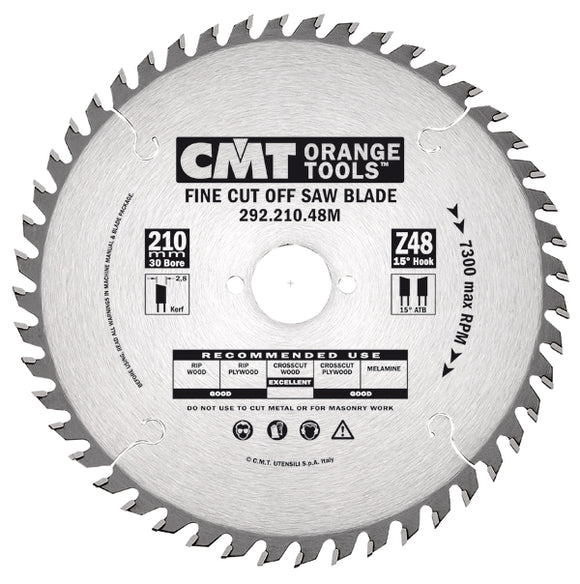 CMT 292.160.40H Fine Cut-Off Saw Blade, 160mm ATB