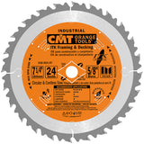 CMT 250.024.07 ITK Industrial Framing/Decking Saw Blade, 7-1/4-Inch