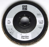 "50 pack of 5""  ""Big Boy"" flap wheels and an angle grinder"