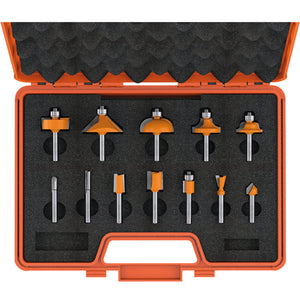 12 PIECE ROUTER BIT SET
