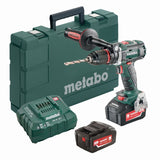 Metabo 18V Brushless Drill/Driver 2x 5.2Ah Kit - BS 18 LTX BL I with components