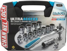 Channellock 16pc Ultra Access Socket Set
