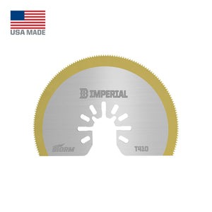 "Imperial ONE FIT 3-1/8"" STORM TiN Segmented HSS Blade IBOAT410 1 Pack"