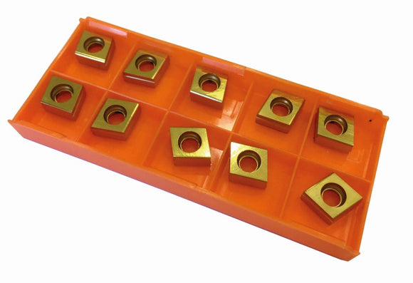 Coated insert set for milling heads - 4 sided