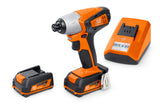 "ASCD 12-100 W4C 12V - 1/4"" Impact Driver with 2 batteries and charger"