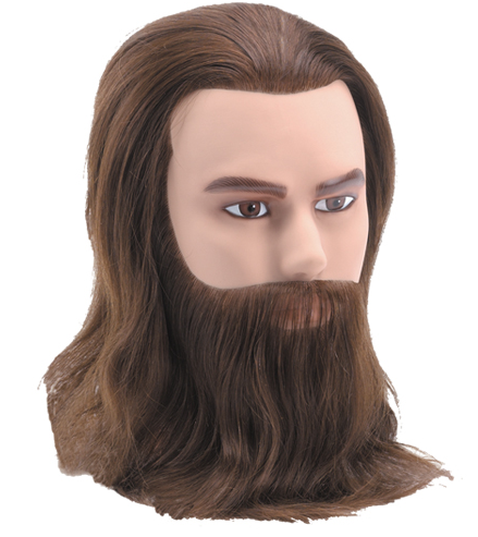 BaByliss Pro Deluxe Male Mannequin with Beard and Moustache | Absolute Beauty Source