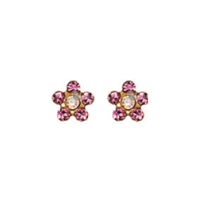 Inverness 824C - 24KT CZ Earrings Crystal October ROSE | Absolute Beauty Source