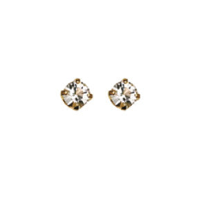 Inverness 84C - 24KT CZ Earrings 3MM CRYSTAL TIFFANY APRIL | Absolute Beauty Source