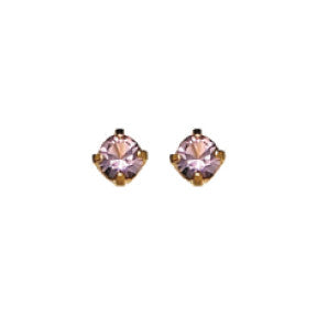 Inverness 86C - 24KT CZ Earrings 3MM Alexandrite TIFFANY june | Absolute Beauty Source