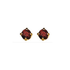 Inverness 87C - 24KT CZ Earrings 3MM RUBY TIFFANY JULY | Absolute Beauty Source